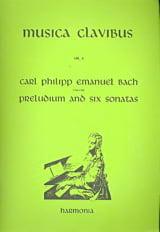 Prélude et 6 Sonates Carl-Philipp Emanuel Bach Partition laflutedepan