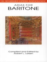 Opera Anthology : Arias Pour Baryton Partition laflutedepan.com