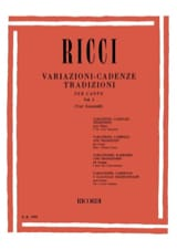 Variations. Cadences. Traditions Volume 1 Luigi Ricci laflutedepan.com