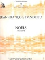 Noëls Livre 1 Jean-François Dandrieu Partition laflutedepan.com