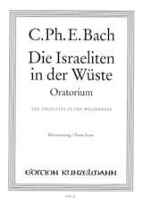 Carl-Philipp Emanuel Bach - Die Israeliten in der Wüste - Partition - di-arezzo.fr