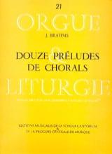 Johannes Brahms - 12 Préludes de Chorals - Partition - di-arezzo.fr