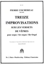 Pierre Cochereau - 13 Improvisations on Verse's Verses - Sheet Music - di-arezzo.co.uk