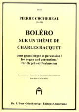 Boléro Pierre Cochereau Partition Orgue - laflutedepan.com
