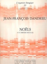 Noëls Livre 4 Jean-François Dandrieu Partition laflutedepan.com