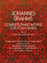 BRAHMS - Complete Works for piano with 4 hands - Sheet Music - di-arezzo.co.uk