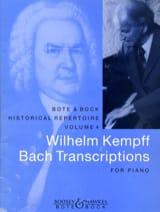 Bach Jean-Sébastien / Kempff Wilhelm - Bach Transcriptions - Partition - di-arezzo.fr