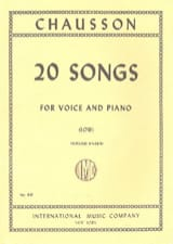 Ernest Chausson - 20 Songs. Deep voice - Sheet Music - di-arezzo.co.uk