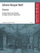 Johann Kaspar Kerll - Ciacona - Partition - di-arezzo.fr