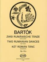 2 Danses Roumaines Opus 8/A - Bela Bartok - laflutedepan.com