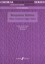 3 Carols For Upper Voices Benjamin Britten Partition laflutedepan.com