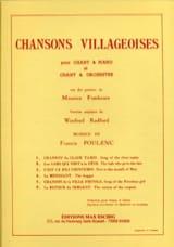 6 Chansons Villageoises Francis Poulenc Partition laflutedepan.com