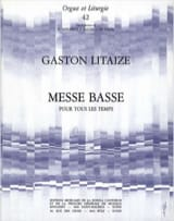 Gaston Litaize - Low Mass For All Time - Sheet Music - di-arezzo.com