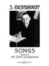 RACHMANINOV - Songs Volume 2 - Partition - di-arezzo.fr