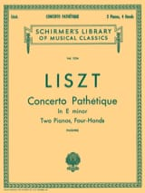 Franz Liszt - Concerto Pathétique En Mi Mineur - Partition - di-arezzo.fr