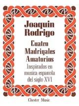 4 Madrigales Amatorios. Voix Haute Joaquin Rodrigo laflutedepan.com