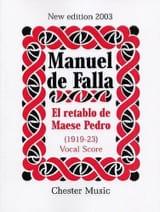 El Retablo de Maese Pedro. DE FALLA Partition laflutedepan.com