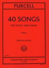 40 Songs. Voix Haute Henry Purcell Partition laflutedepan.com