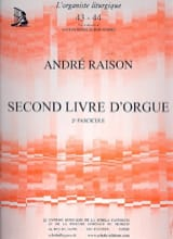 Second Livre d'Orgue Volume 2 André Raison Partition laflutedepan