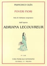 Francesco Cilea - Poveri Fiori. Adriana Lecouvreur - Sheet Music - di-arezzo.co.uk