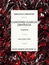 Fernando Obradors - Canciones Clasicas Espanolas Volume 3 - Partition - di-arezzo.fr