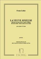 Franz Lehar - La Veuve Joyeuse - Partition - di-arezzo.fr