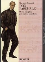 Don Pasquale. Gaetano Donizetti Partition Opéras - laflutedepan.com