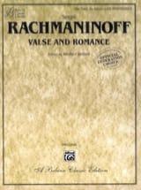 Valse et Romance. 6 Mains - Sergei Rachmaninov - laflutedepan.com