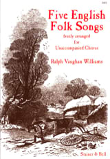 5 English Folk Songs Williams Ralph Vaughan Partition laflutedepan.com