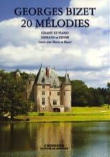 Georges Bizet - 20 Mélodies Opus 21. Voix Haute - Partition - di-arezzo.fr