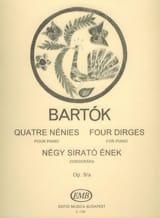 4 Nénies Bela Bartok Partition Piano - laflutedepan.com