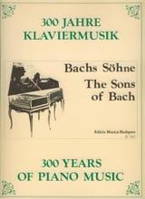 Les Fils De Bach Partition Piano - laflutedepan.com