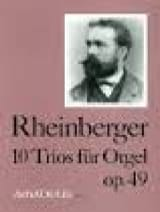 Josef Gabriel Rheinberger - 10 Trios Op. 49 - Sheet Music - di-arezzo.com