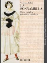 La Sonnambula Vincenzo Bellini Partition Opéras - laflutedepan.com
