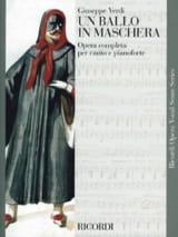 VERDI - A Ballo In Maschera - Sheet Music - di-arezzo.com
