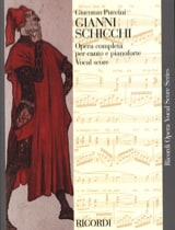 Giacomo Puccini - Gianni Schicchi - Sheet Music - di-arezzo.co.uk