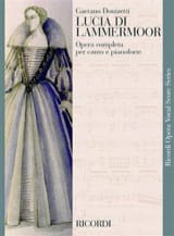 Gaetano Donizetti - Lucia Di Lammermoor. - Sheet Music - di-arezzo.co.uk