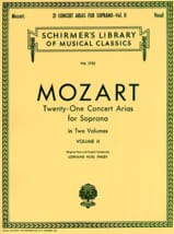 MOZART - 21 Soprano Concert Volts Volume 2 - Sheet Music - di-arezzo.co.uk