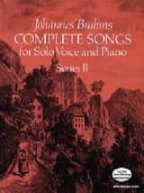 BRAHMS - Complete Songs Volume 2 - Partition - di-arezzo.fr