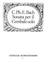 Carl-Philipp Emanuel Bach - Sonata Per il Clavicembalo - Wq 60 - Partition - di-arezzo.fr