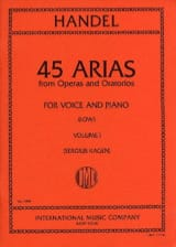 HAENDEL - 45 Arias Volume 1. Serious Voice - Sheet Music - di-arezzo.com