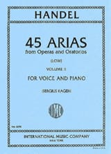 HAENDEL - 45 Arias Volume 2. Serious Voice - Sheet Music - di-arezzo.co.uk