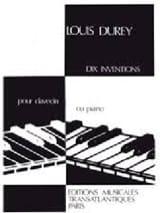 10 Inventions Louis Durey Partition Clavecin - laflutedepan.com