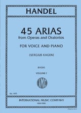 HAENDEL - 45 Arias Volume 1. High Voice - Partitura - di-arezzo.es