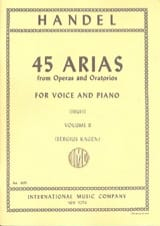 HAENDEL - 45 Arias Volume 2. High Voice - Partitura - di-arezzo.es