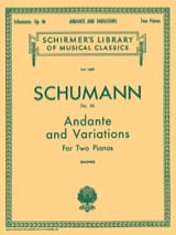 Robert Schumann - Andante et Variations Opus 46 - Partition - di-arezzo.fr
