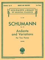 Andante et Variations Opus 46 SCHUMANN Partition laflutedepan.com