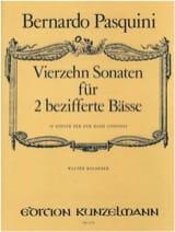 Bernardo Pasquini - 14 Sonates Pour 2 Basses Chiffrées - Partition - di-arezzo.fr