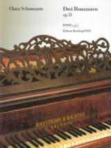 3 Romances Opus 21 Clara Schumann Partition Piano - laflutedepan.com