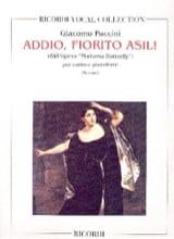 Addio, Fiorito Asil. Madama Butterfly Giacomo Puccini laflutedepan.com